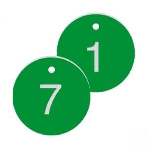 Werkzeugmarken mit gravierter, fortlaufender Nummerierung