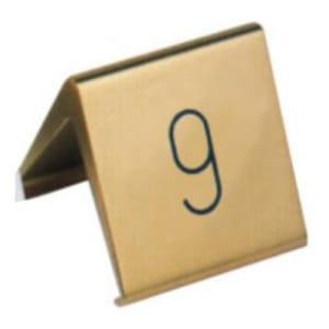 Tischnummernschilder mit eingravierten Ziffern