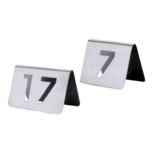Tischnummernschilder mit ausgestanzten Ziffern, dreistellige Ziffern