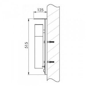 Wandascher in Zigarettenoptik mit Schutzdach - Inhalt 1 Liter