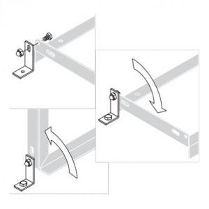 Winkel für Fahrradständer zur Bodenmontage