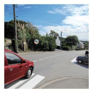 Verkehrsspiegel rot/weiß - Überprüfung von 2 Richtungen