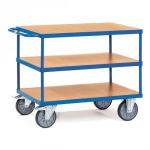 Schwerer Tischwagen mit 3 Holzböden - Tragkraft 500 / 600 kg