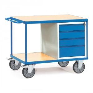 Schwerer Werkstattwagen / Tischwagen mit 4 Schubladen  - Tragkraft 600 kg