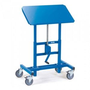 Materialständer mit neigbarer Stahlblechplattform und Zahnstangengewinde - Tragkraft 250 kg