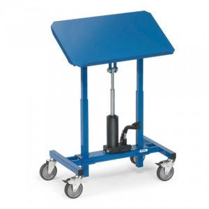 Materialständer mit neigbarer Stahlblechplattform und Hydraulikpumpe - Tragkraft 250 kg