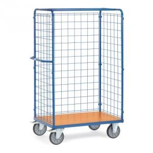 Paketwagen mit Drahtgitterwänden - Gesamthöhe 1800 mm  - Tragkraft 600 kg