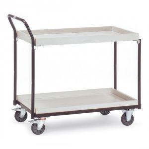ESD-Tischwagen mit 2 Kästen und schrägem Schiebegriff - Tragkraft 300 kg