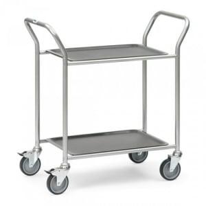 Servierwagen mit 2 abnehmbaren Tabletts  - Tragkraft 60 kg