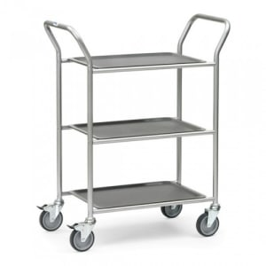 Servierwagen mit 3 abnehmbaren Tabletts  - Tragkraft 90 kg