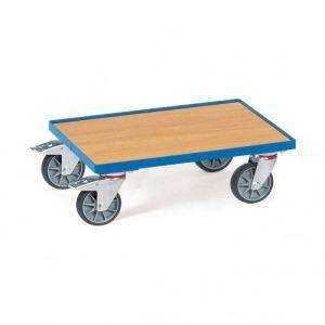 Eurokasten-Roller mit Holzbodenplatte und Rand  - Tragkraft 250 kg