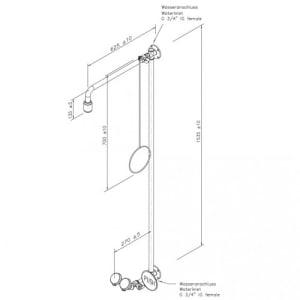 Notdusche mit Zugstange und Augendusche (Wandmontage Aufputz)