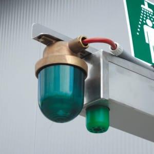 Positionsleuchte (grün) für Industrie-Notduschen