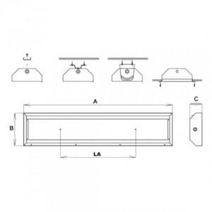 EX-Steildachleuchte X-LUX PREMIUM VA (Wand-/Deckenaufbau)