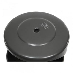 Rund-Abfallbehälter inkl. Ascher mit Pfosten - Inhalt 0,5 + 55 Liter