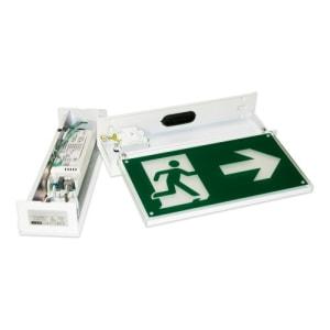 Rettungszeichenleuchte FRANKFURT Maxi (Deckenaufbau), 7L-Schutzlicht