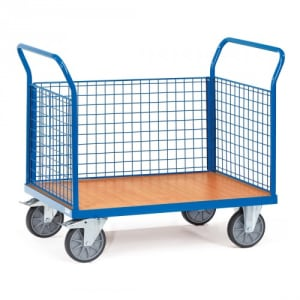 Dreiwandwagen mit Drahtgitterwänden - Tragkraft 500 / 600 kg
