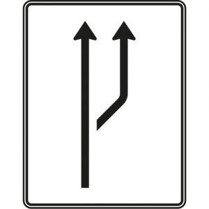 Aufweitungstafel - Schild mit Verkehrszeichen 541-20