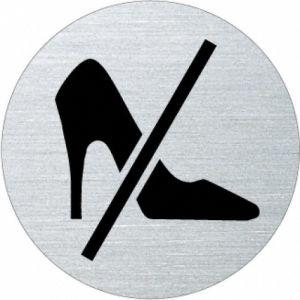 Piktogramm - Absatzschuhe verboten (rund)