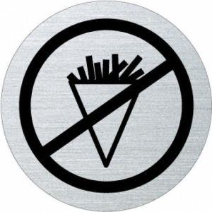 Piktogramm - Essen verboten (rund, mit Rand)