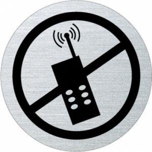 Piktogramm - Handys verboten (rund, mit Rand)