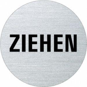 Textschild - Ziehen (rund)