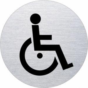 Piktogramm - Rollstuhlfahrer (rund,Motiv 2)