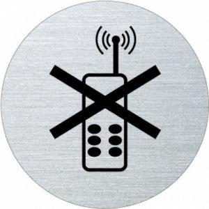 Piktogramm - Handys verboten (rund, ohne Rand- Motiv 3)