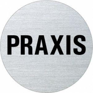 Textschild - Praxis (rund) Typ 1