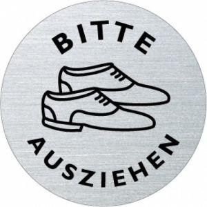 Textschild+Symbol - Bitte Schuhe ausziehen