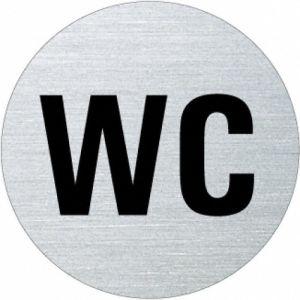 Textschild - WC (rund)