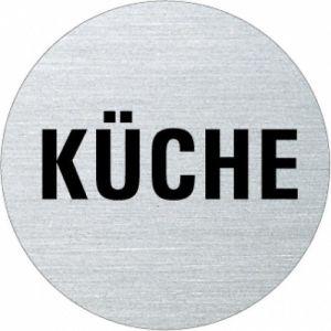 Textschild - Küche (rund)