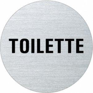 Textschild - Toilette (rund)