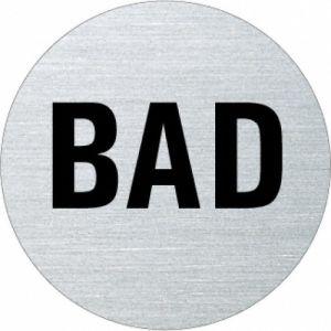 Textschild - Bad (rund)