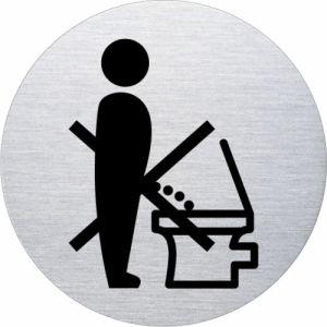 Piktogramm - Die Toilette nicht im Stehen benutzen (rund, ohne Rand)