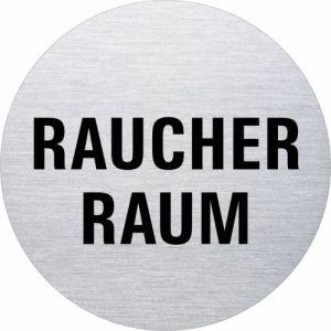 Textschild - Raucherraum (rund)