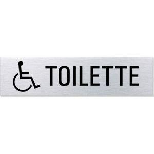 Textschild + Symbol - Toilette behindertengerecht (eckig)