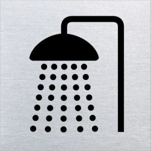 Piktogramm - Dusche (quadratisch) Motiv 2