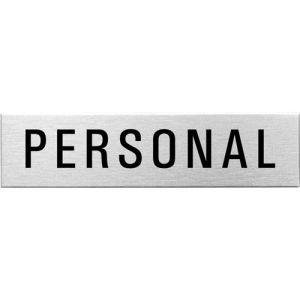 Textschild - Personal (eckig)