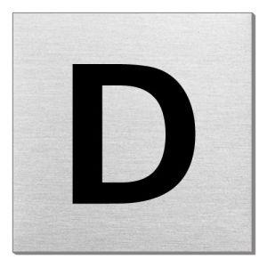 Textschild - D (quadratisch)