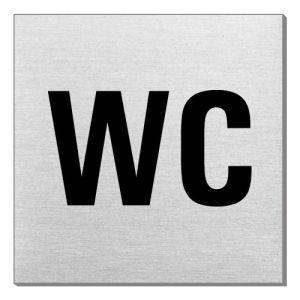 Textschild - WC (quadratisch)