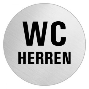 Textschild - WC Herren (rund)