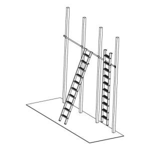 Stufen-Regalleiter STABILO, einhängbar