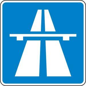 VZ 330.1 Autobahn Hinweisschild