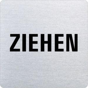 Textschild - Ziehen (ecken abgerundet)