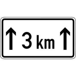 Zusatzschild Auf ... km Zusatzzeichen VZ 1001-31