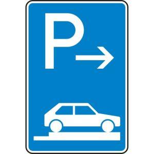 Verkehrszeichen 315-87 Parken auf Gehwegen Schild (Ende)