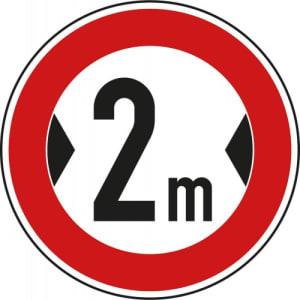 VZ 264 - Verkehrsschild Tatsächliche Breite