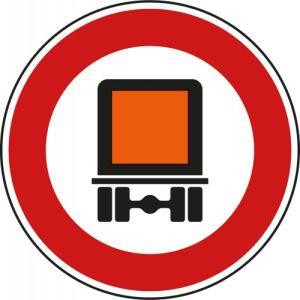 VZ 261 - Verkehrsschild Verbot für Kfz mit Gefahrgut