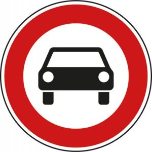 VZ 251 - Verkehrsschild Verbot für Kraftwagen